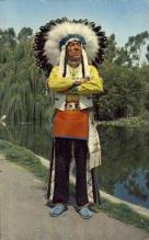 ind200044 - Chief Red Feather Indian Postcard Post Cards
