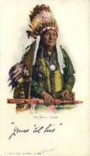 ind200069 - No Neck Chief Indian Postcard Post Cards