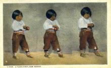 ind200114 - A Pueblo Boy, New Mexico, USA Indian Postcard Post Cards
