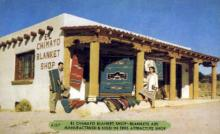 ind200122 - El Chimayo Blacket Shop Indian Postcard Post Cards