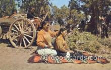 ind200140 - Navajo Indian Life Indian Postcard, Post Card
