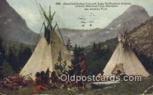 ind200142 - Blackfeet Indian Council, Lake McDermott Indian Postcard, Post Card