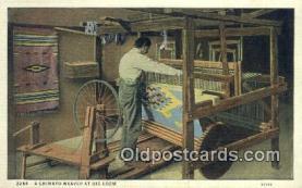 ind200155 - Chimayo Weaver Indian Postcard, Post Card