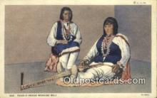ind200156 - Pueblo Indian Weaving Belt Indian Postcard, Post Card