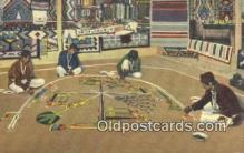 ind200158 - Sand Painting of the Navajo Indians Indian Postcard, Post Card