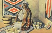 ind200160 - Apache Indian Basket Mater Indian Postcard, Post Card