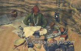 ind200166 - Navajo Indian Silversmith Indian Postcard, Post Card