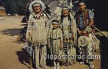 ind200173 - Chief Running Horse & Family Indian Postcard, Post Card