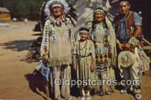 ind200174 - Chief Running Horse & Family Indian Postcard, Post Card