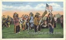 ind200181 - Indian War Dance Indian Postcard, Post Card