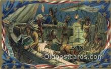 ind200187 - Boston Tea Party Indian Postcard, Post Card