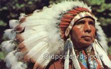 ind200188 - Indian Chief Indian Postcard, Post Card