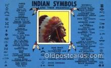 ind200201 - Indian Symbols Indian Postcard, Post Card