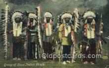 ind200204 - Sioux Indian Chiefs Indian Postcard, Post Card