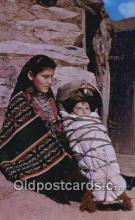 ind200227 - Navajo Indian Mother Indian Postcard, Post Card