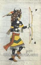 ind200232 - Sun Buffalo Dancer Indian Postcard, Post Card
