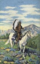 ind200234 - The Chief Artist Larsen Indian Postcard, Post Card