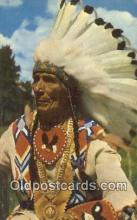 ind200249 - Indian Chief Indian Postcard, Post Card