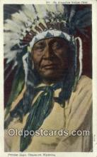 ind200278 - Arapahoe Indian Chief Indian Postcard, Post Card