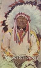 ind200284 - Western Indian Chief Indian Postcard, Post Card