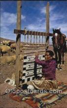 ind200293 - Navajo Weaver Indian Postcard, Post Card