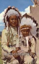 ind200299 - Chief & Papoose Indian Postcard, Post Card