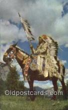 ind200300 - Indian Chief Indian Postcard, Post Card