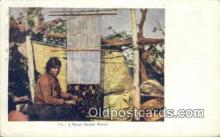 ind200349 - Navajo Blanket Weaver Indian Postcard, Post Card