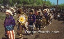 ind200371 - Pottawatomi Indian Pow Wow Club Indian Postcard, Post Card