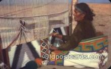 ind200384 - Navajo Rug Weaver Indian Postcard, Post Card
