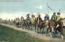 ind200391 - Grand Parade of Blackfoot Indians Indian Postcard, Post Card