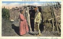ind200400 - Indian Medicine Lodge Indian Postcard, Post Card