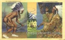 ind200416 - Indian Warrior Scout Indian Postcard, Post Card