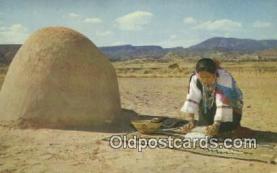 Indian Woman Grinding Corn