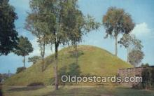 ind200426 - Grave Creek Mound Indian Postcard, Post Card
