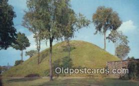 ind200426 - Grave Creek Mound Indian Postcard, Post Card