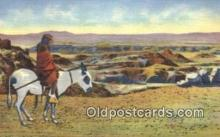 ind200432 - Hopi Indian & Burro Indian Postcard, Post Card