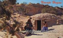 ind200434 - Navajo Hogan Indian Postcard, Post Card