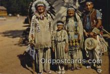 ind200436 - Chief Running Horse & Family Indian Postcard, Post Card
