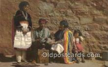 ind200438 - Zuni Indian Silversmith & Family Indian Postcard, Post Card