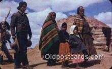 ind200439 - Navaho Family Indian Postcard, Post Card