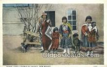 ind200452 - Indian Family Pueblo of Cochitit Indian Postcard, Post Card