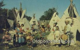 ind200455 - Indian Village Indian Postcard, Post Card