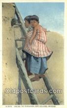 ind200460 - Taking the Elevator, Hopi Village Indian Postcard, Post Card