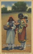 ind200462 - Pueblo Pottery Vendors Indian Postcard, Post Card