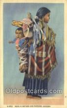 ind200469 - Navajo Mother & Papoose Indian Postcard, Post Card