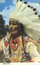 ind200484 - Indian Chief Indian Postcard, Post Card