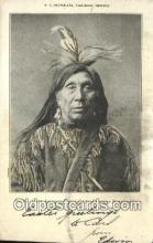 ind200488 - Crow Eagle, Piegan Chief Indian Postcard, Post Card