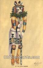 ind200496 - The Stick Dancer Indian Postcard, Post Card