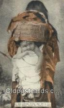 ind200501 - Baby Carriage, Apache Mother Indian Postcard, Post Card